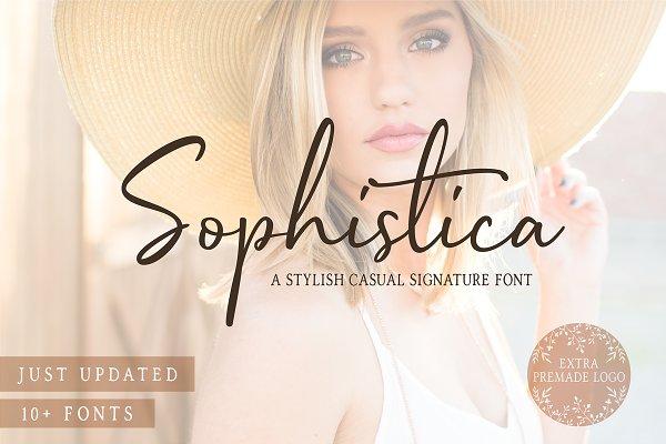 Sophistica -10 Fonts & Extra