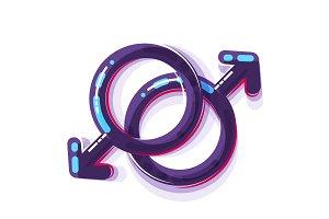 Female sex symbol, gender men and gay.