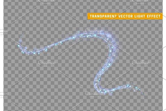 Magic light effect. Stardust blue glitter. Sparkle star dust vector illustration