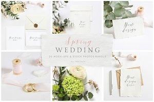 Spring Wedding mockups, stock photos