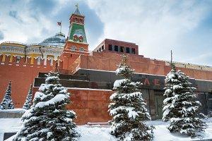 Lenin's Mausoleum by Moscow Kremlin
