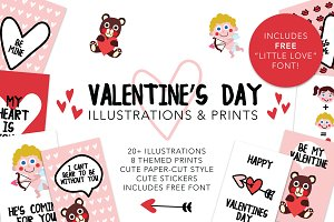Valentine's Illustrations & Prints