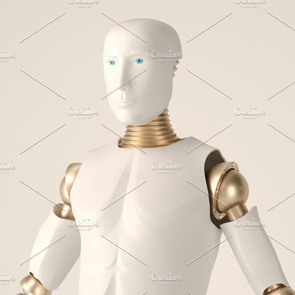 Stylish Handsome Cyborg