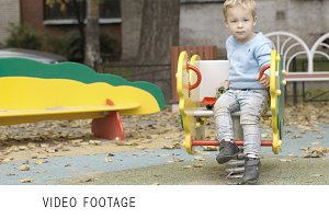 Little boy on the playground.