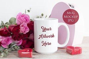 15oz large Mug Mockup - Valentine