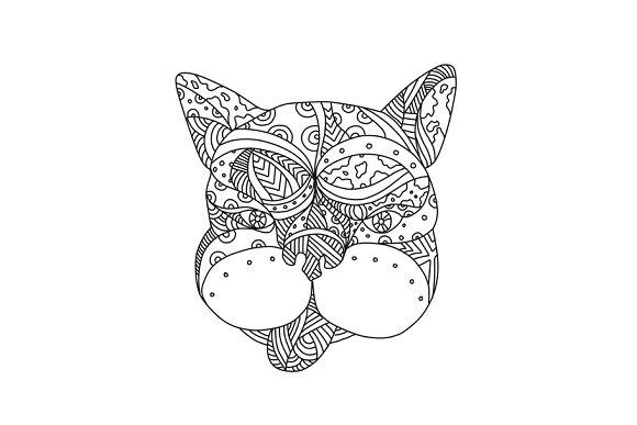 French Bulldog Doodle Art
