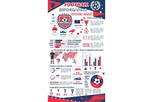 Football or soccer infographic of sport club