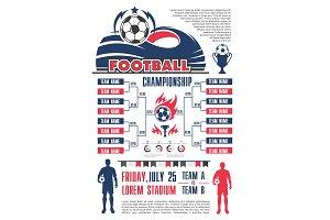 Football championship schedule banner template