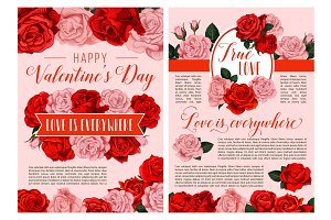 Valentine Day holiday greeting card