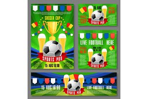 Sport pub invitation ticket for football event