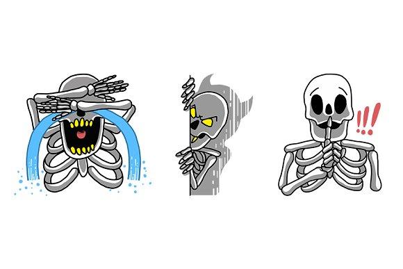 Skelly Emoticon Vector Set