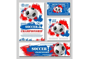 Soccer championship cup poster for football design