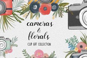 Vintage Cameras & Florals