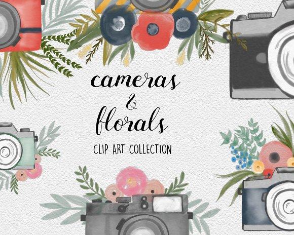Vintage Cameras Florals