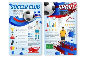 Soccer sport infographic for football team design
