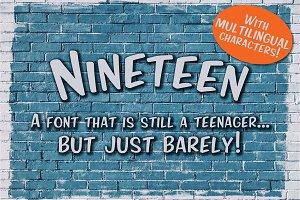 Nineteen Sans Serif Font