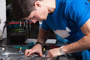 Mechanic repairing acoustic coating