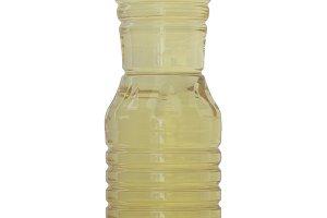Vegetable oil bottles natural light