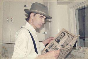 Retro Man with Newspaper