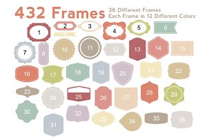 Frames & Shapes - Vector