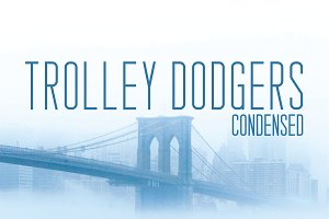 Trolley Dodgers Typeface