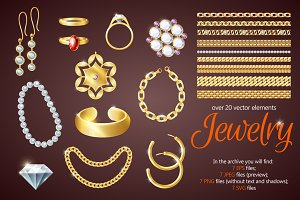 Jewelry Objects Set
