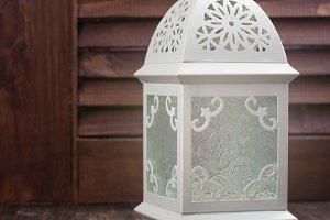 White arabic lantern