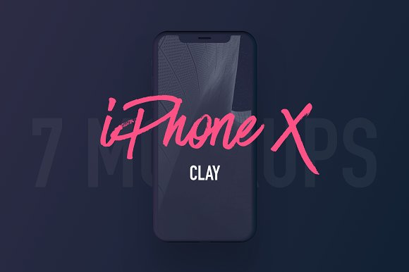 Download 7 Most Popular iPhone X Clay Mockups