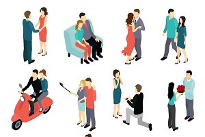 Loving Couples Isometric Set