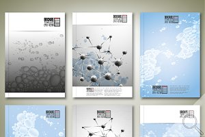 Science brochure or flyer templates