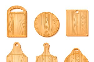 Cutting Board Icon Set