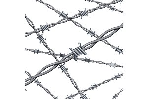3d Barbed Wire Background Card