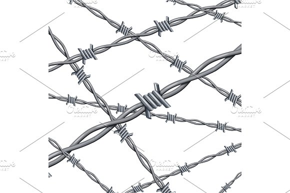 3d Barbed Wire Background Card ~ Illustrations ~ Creative Market