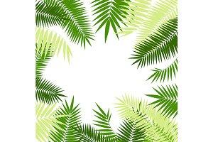 Green Palm Leaf Frame Set