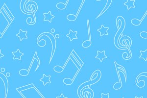 Seamless patterns with musical notes