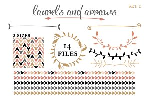 Arrows, Laurels, & Borders