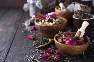 Flower and herbal tea
