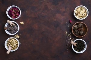 Different herbs for making healthy tea