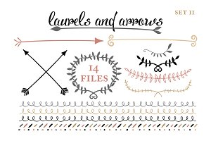 Arrows, Laruels & Borders set 2