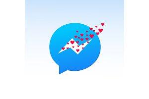 valentine day messenger.