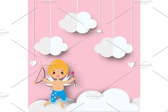 Cute Valentine's Cupid Paper Craft
