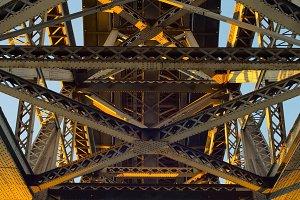 Metal bridge background