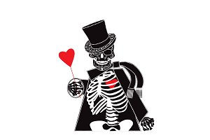 Valentine skull background