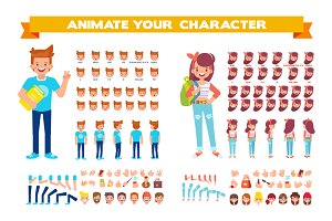 Vector Students for animation