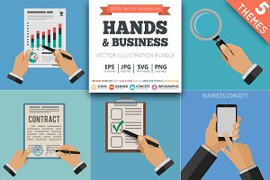 Businessman Hands with Objects