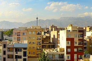 Panorama of Tehran Iran