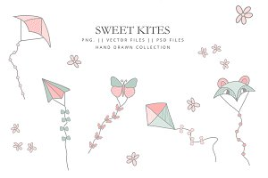 Kites to fly collection - vector