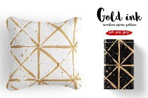 Golden ink square pattern