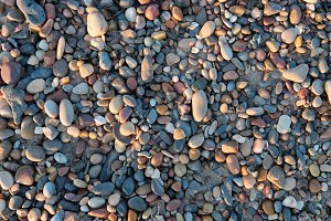 Colorful rounded stones