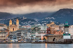 Bastia at sunset